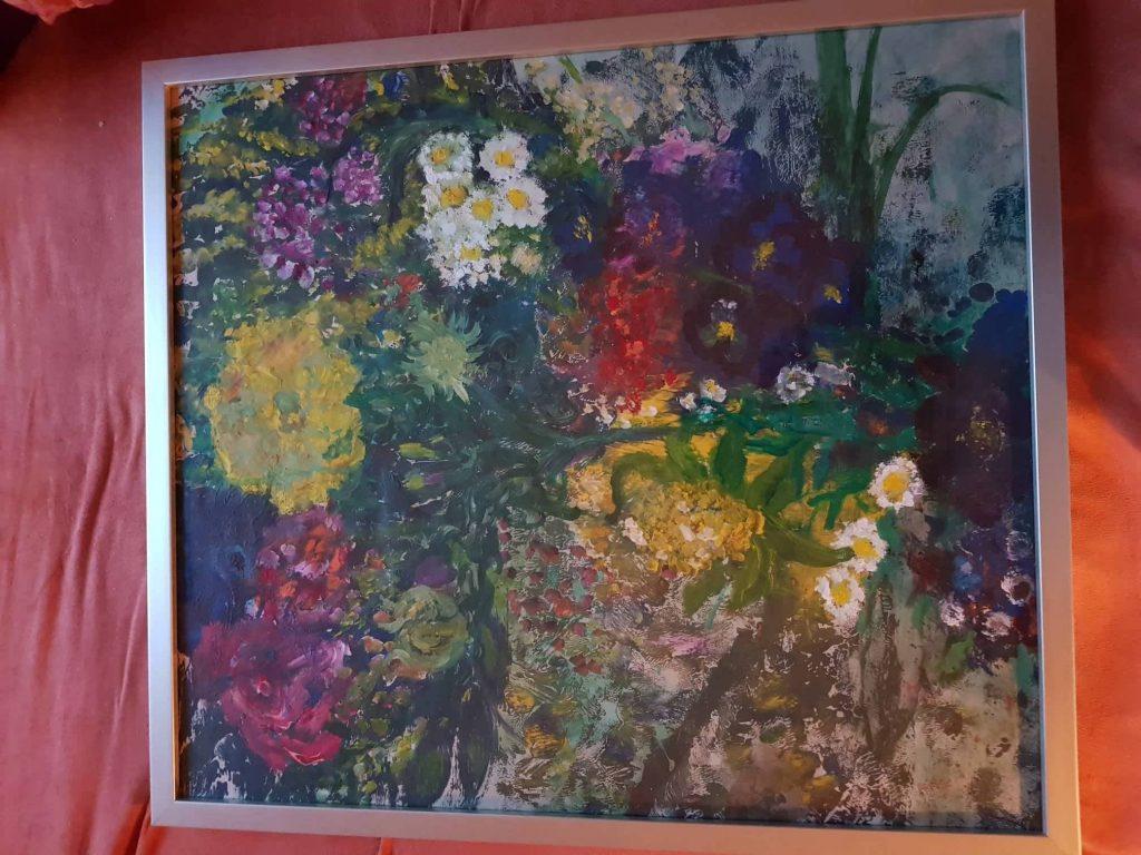 """Acryl auf Leinwand Titel: """"NOVEMBER BLUES WEGGEMALT"""" von Gisela Kentmann"""
