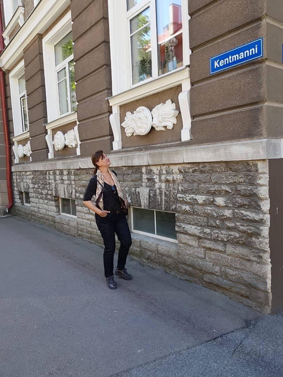 Kentmanni-Kentmann-Strasse-Tallin, Estland auf dem Domberg