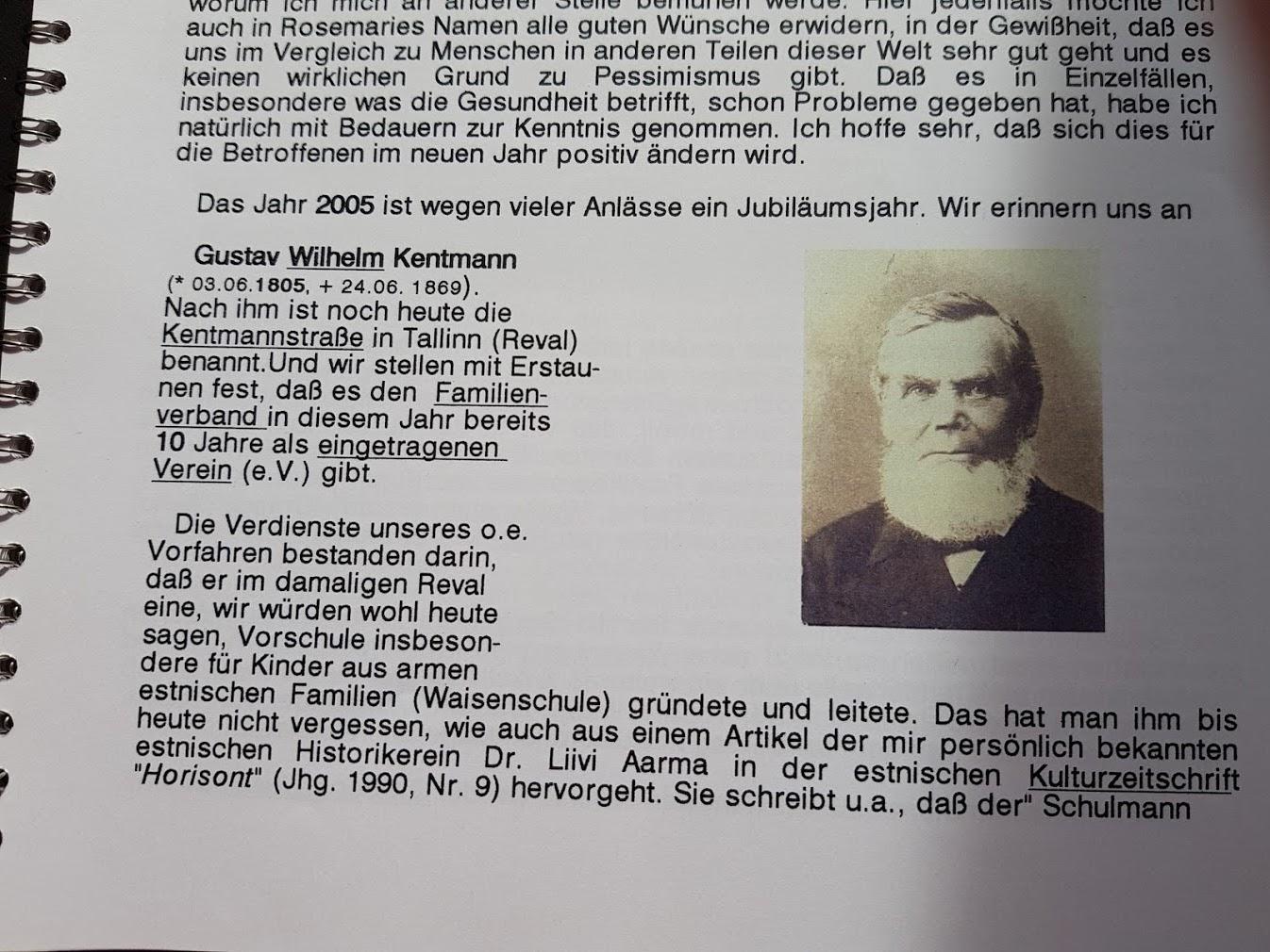 Orte, Vorfahren, Geschichte von der Kentmann Familie 2.