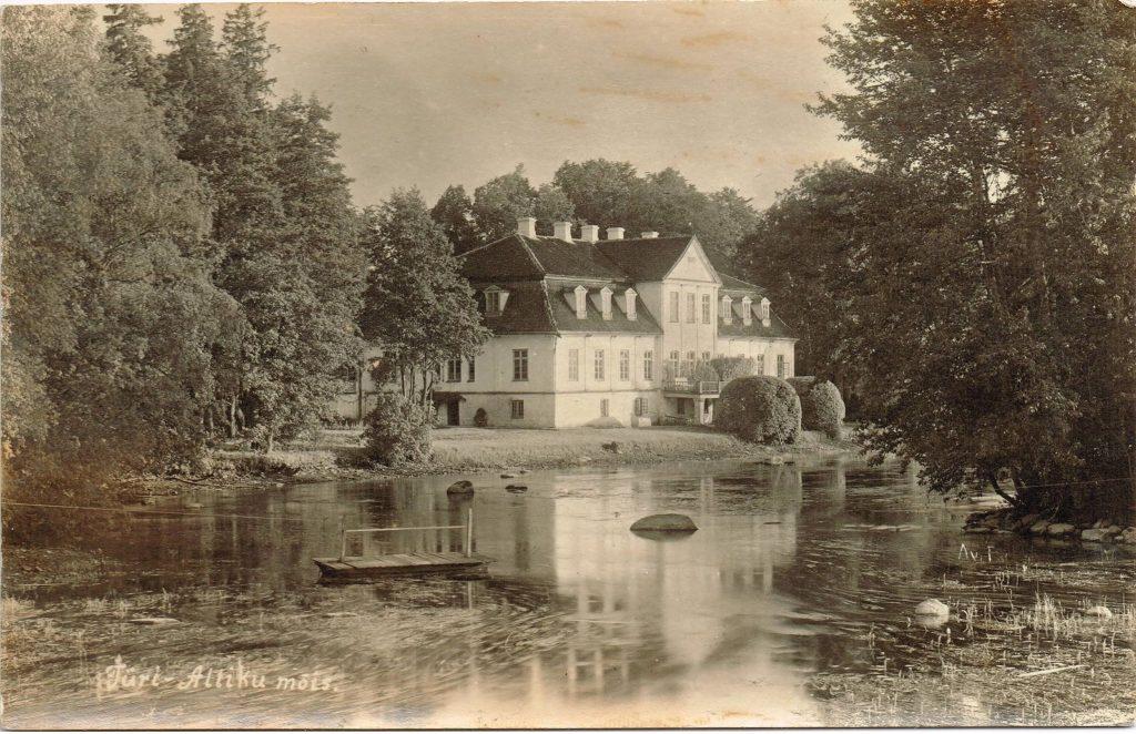 Schloss Allenküll mit Teich von Gisela Kentmann Grosseltern