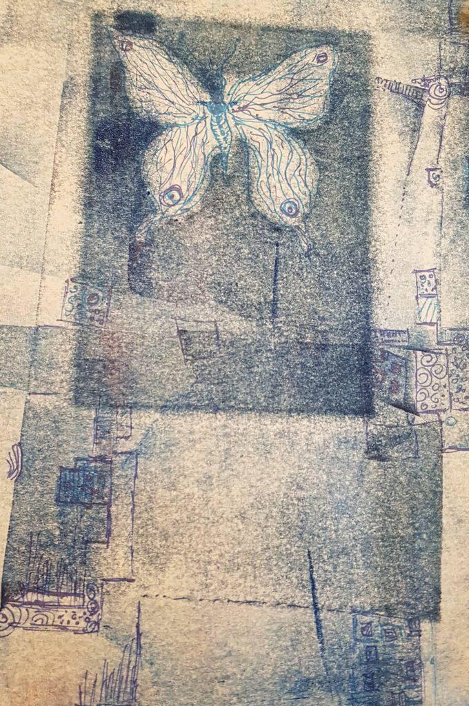 Monotypie:Federzeichnung (3), Gisela Kentmann