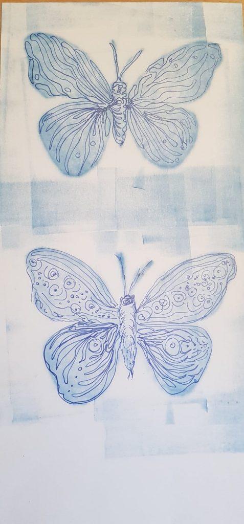Monotypie:Federzeichnung (7), Gisela Kentmann